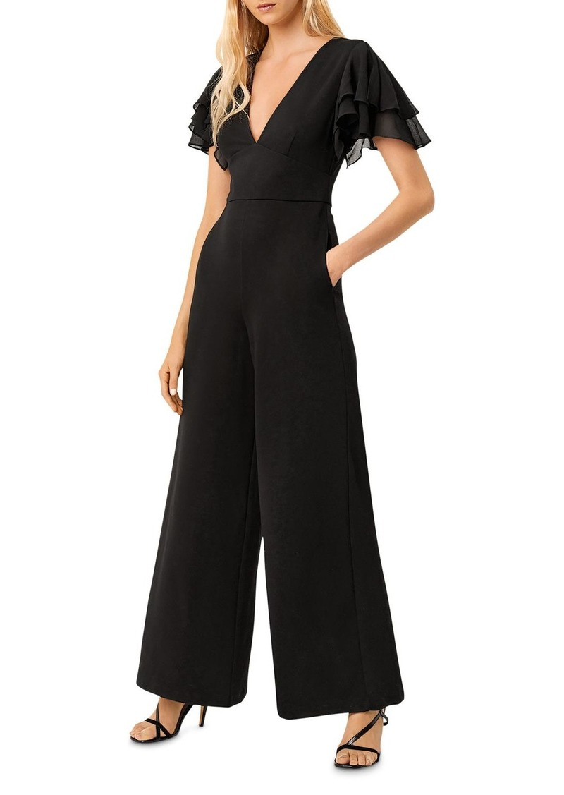 FRENCH CONNECTION Tobina Wide-Leg Pont� Jumpsuit