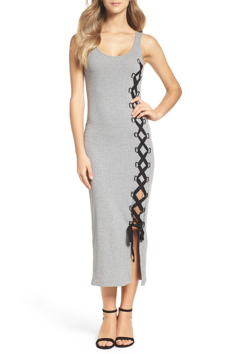 French Connection Tommy Lace-Up Midi Dress