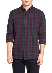 French Connection Trim Fit Flannel Plaid Sport Shirt