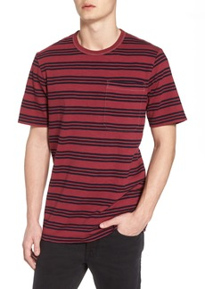 French Connection Triple Stripe Garment Dyed T-Shirt