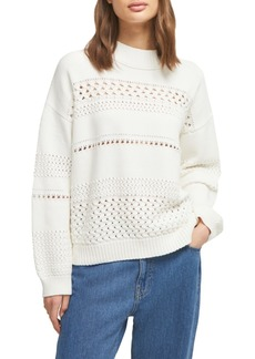 French Connection Trista Cotton Pointelle Sweater