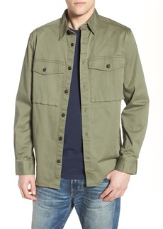French Connection Twill Military Shirt Jacket