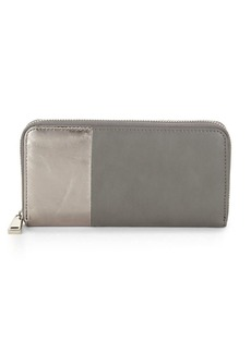 Two-Tone Zip-Around Wallet
