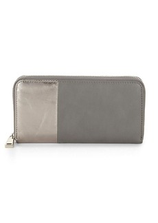 French Connection Two-Tone Zip-Around Wallet