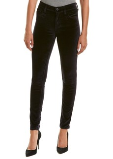 French Connection Utility Blue Velvet Luxe Skinny Leg