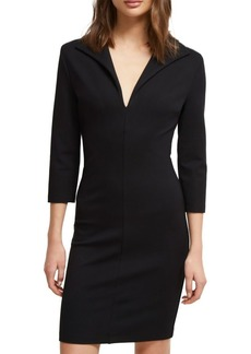 French Connection V-Neck Jersey Bodycon Dress