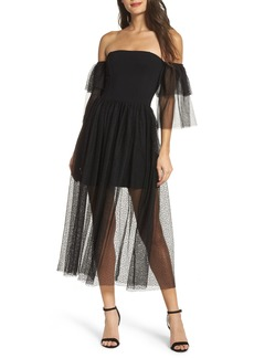 French Connection Valentin Off the Shoulder Midi Dress