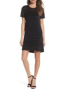 French Connection Velvet Stripe Shift Dress