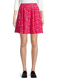 French Connection Verona Drape Gathered A-Line Skirt