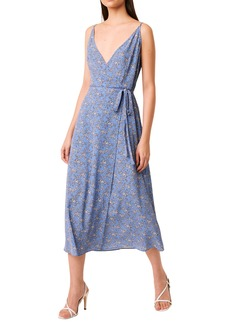 French Connection Verona Faux Wrap Crepe Midi Dress