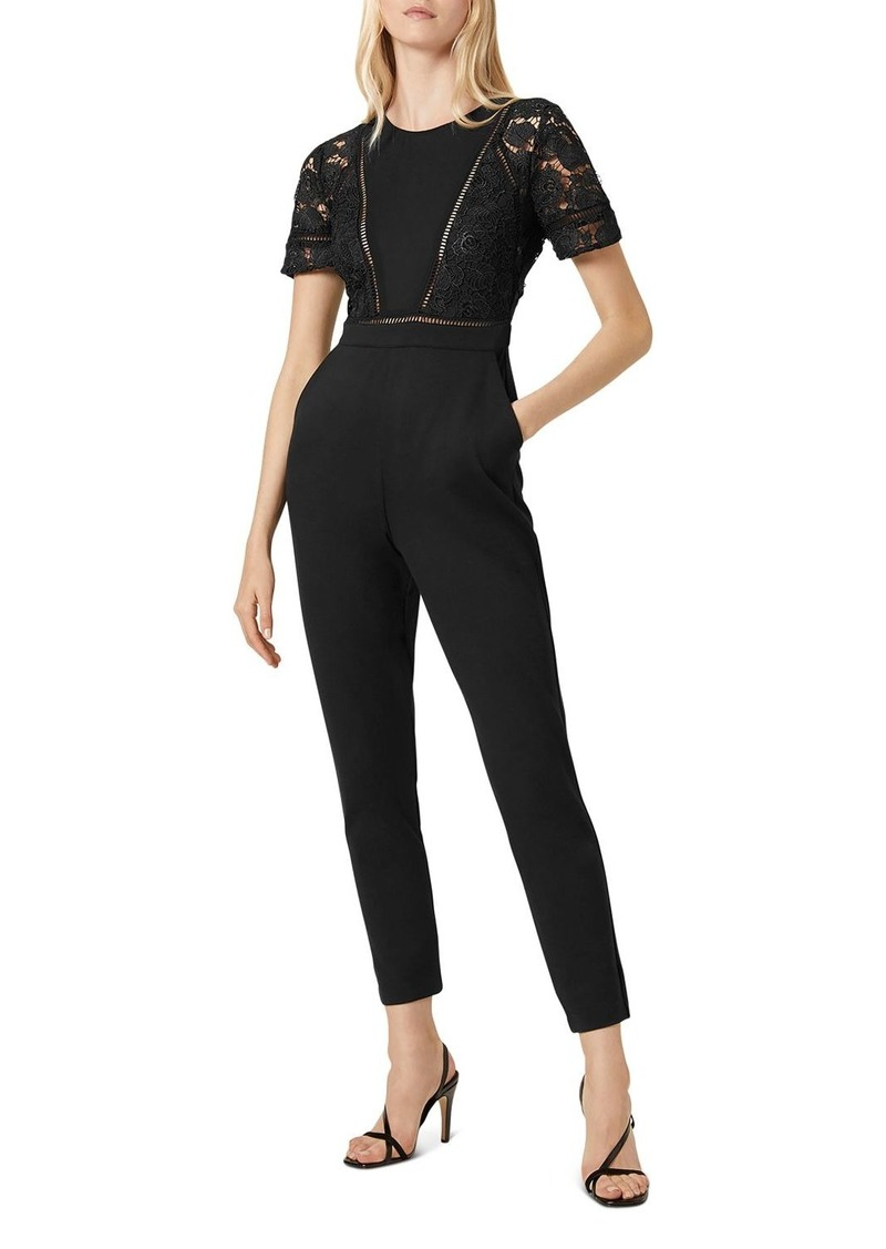 FRENCH CONNECTION Viola Lula Lace-Bodice Jumpsuit