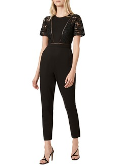 French Connection Viola Lula Lace Trim Jumpsuit