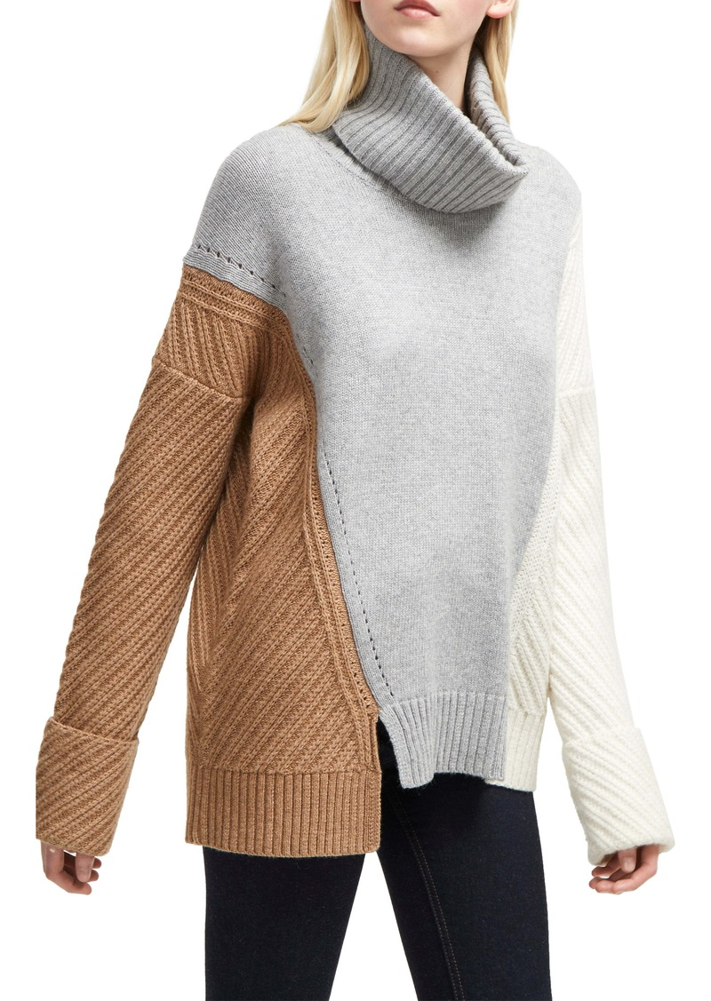 French Connection Viola Recut Turtleneck Sweater