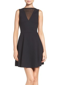 French Connection 'Viola' Stretch Fit & Flare Dress