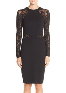 French Connection 'Viven' Lace & Jersey Sheath Dress