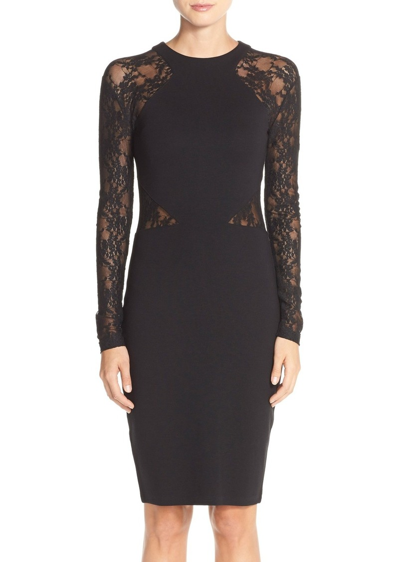 French Connection 'Viven' Lace Long Sleeve Sheath Dress