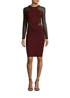 French Connection Viven Net Panel Sheath Dress