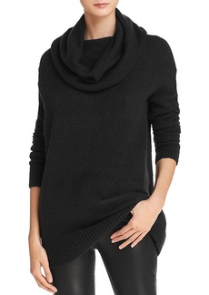 French Connection Weekend Cowl Neck Ribbed-Trim Sweater