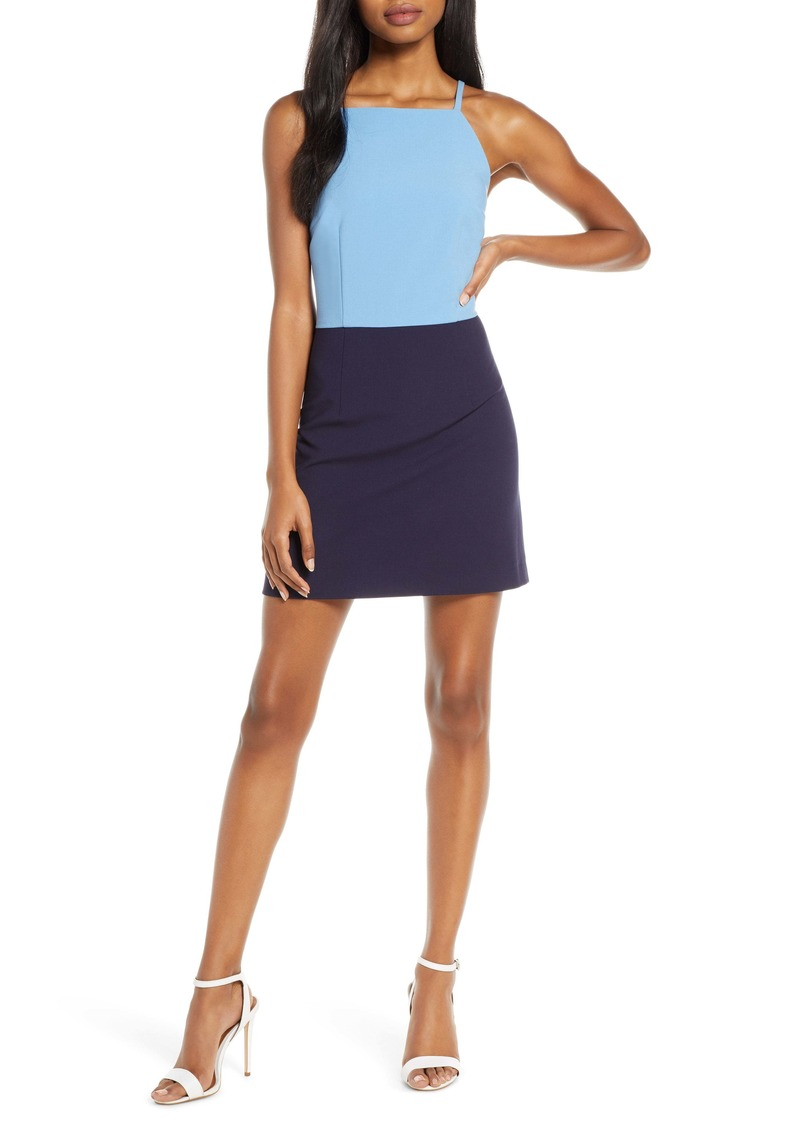 French Connection Whisper Colorblock Minidress