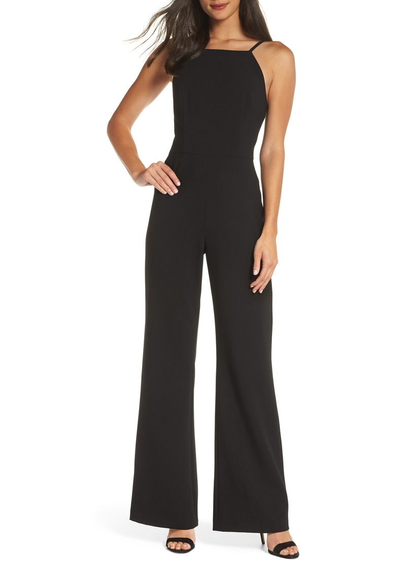 French Connection Whisper Halter Neck Jumpsuit