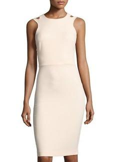 French Connection Whisper Light Cutout Sheath Dress