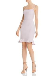 FRENCH CONNECTION Whisper Sweetheart Ruffle-Hem Sheath Dress
