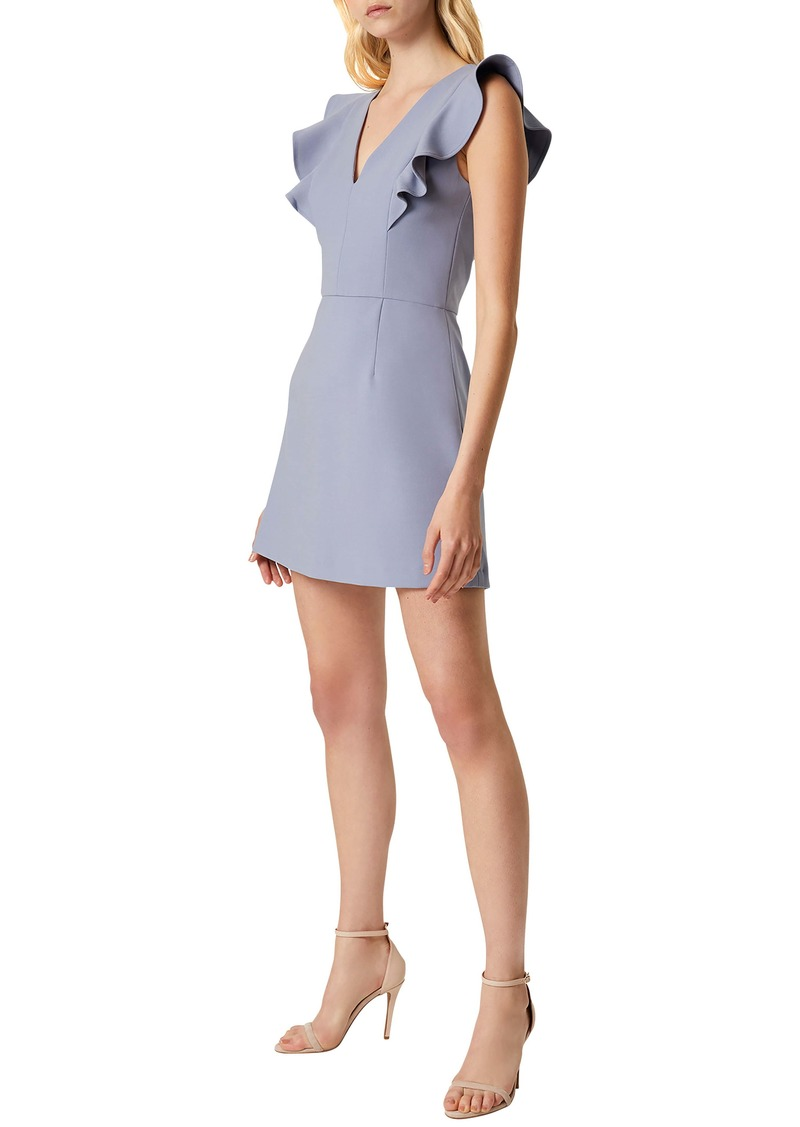 French Connection Whisper Ruffle Minidress
