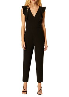 French Connection Whisper Ruffled Cotton-Blend Jumpsuit