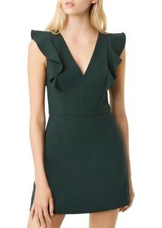 FRENCH CONNECTION Whisper Ruffled V-Neck Mini Dress