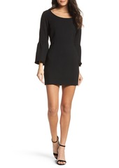French Connection Whisper Ruth Bell Sleeve Sheath Dress