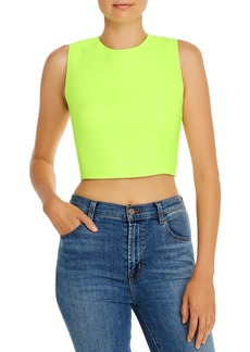 FRENCH CONNECTION Whisper Sleeveless Zip-Detail Cropped Top