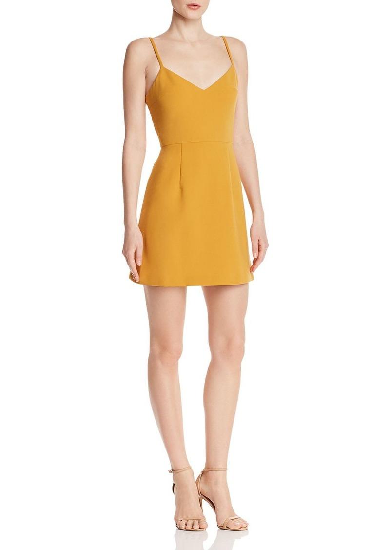 FRENCH CONNECTION Whisper Sundae V-Neck Mini Dress