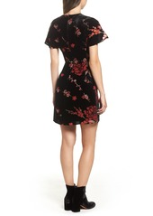 French Connection Wilma Devore Burnout Velvet A-Line Dress