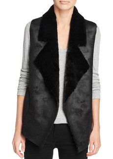 FRENCH CONNECTION Winter Rhoda Faux-Shearling Vest