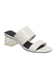 French Connection Women's 134 Double Band Lucite Heel Dress Sandals Women's Shoes
