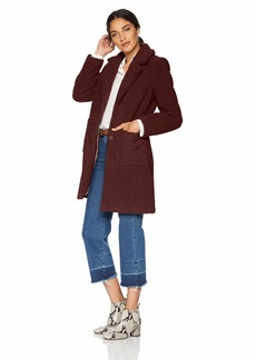 French Connection Women's 3/4 Faux Shearling Coat  XL