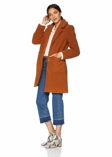 French Connection Women's 3/4 Faux Shearling Coat  M