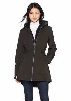 French Connection Women's 3/4 Hooded Softshell with Sweatshirt bib  M