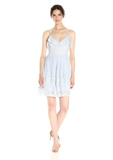 French Connection Women's Adanna Pleat Lace Jersey Dress