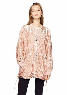 French Connection Women's Adette Shine Oversized Sequin Jacket  M