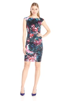 French Connection Women's After Party Cotton Cap Sleeve Dress