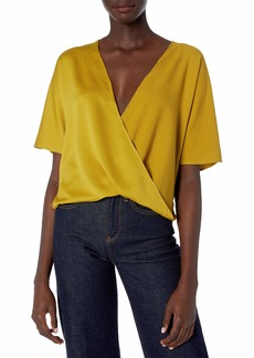 French Connection Women's Alessia Satin Wrap Top  S