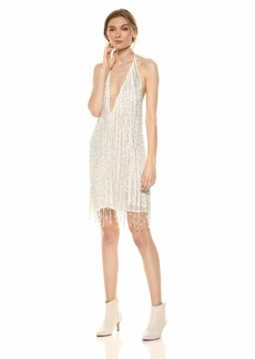French Connection Women's All Over Sequin Dresses Celosia Summer White/Clear