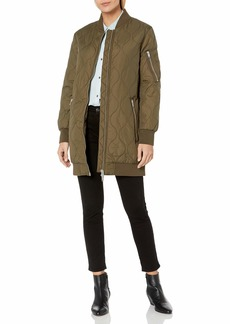 French Connection Women's Ardis Puffer Bomber Jacket  M
