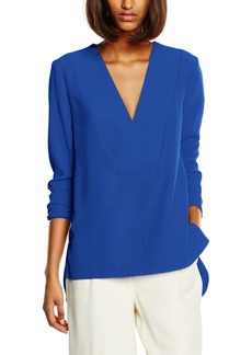 French Connection Women's Arrow Crepe Long-Sleeve V-Neck Top