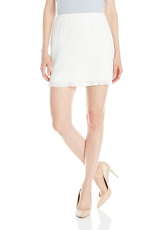French Connection Women's Arrow Crepe Mini Skirt