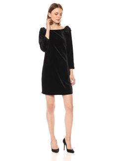 French Connection Women's Auore Velvet 3/4 Sleeve  Dress