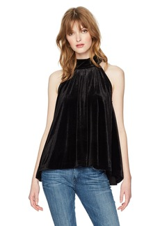 French Connection Women's Aurore Velvet Mock Neck Top  L