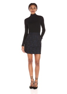 French Connection Women's Baby Lace Turtleneck Dress