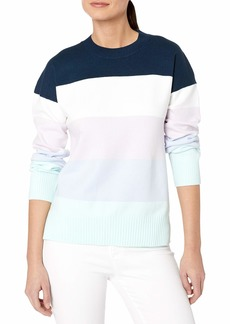 French Connection Women's Babysoft Sweater ICY Stripe L